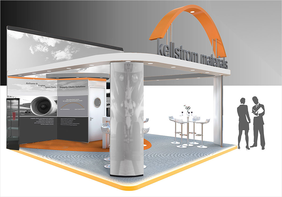 Airshow Booth Rendering With Graphics