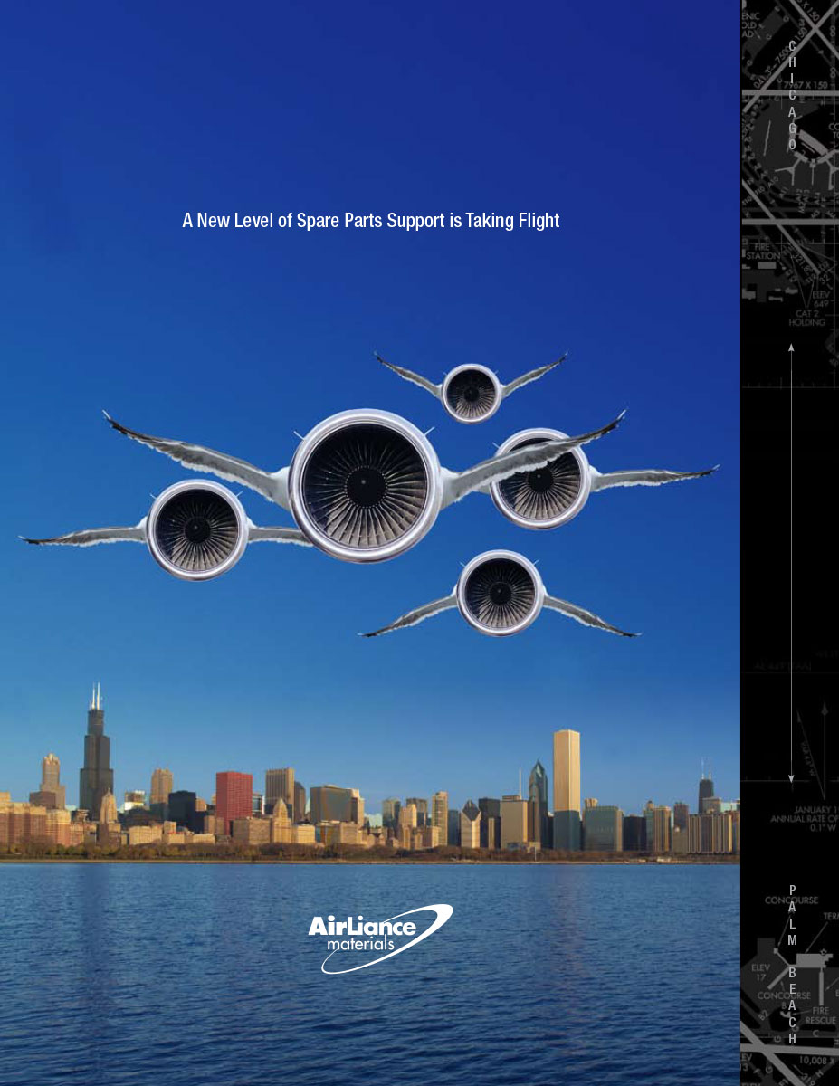 Cover of Aircraft Engine Parts Expansion Announcement Brochure