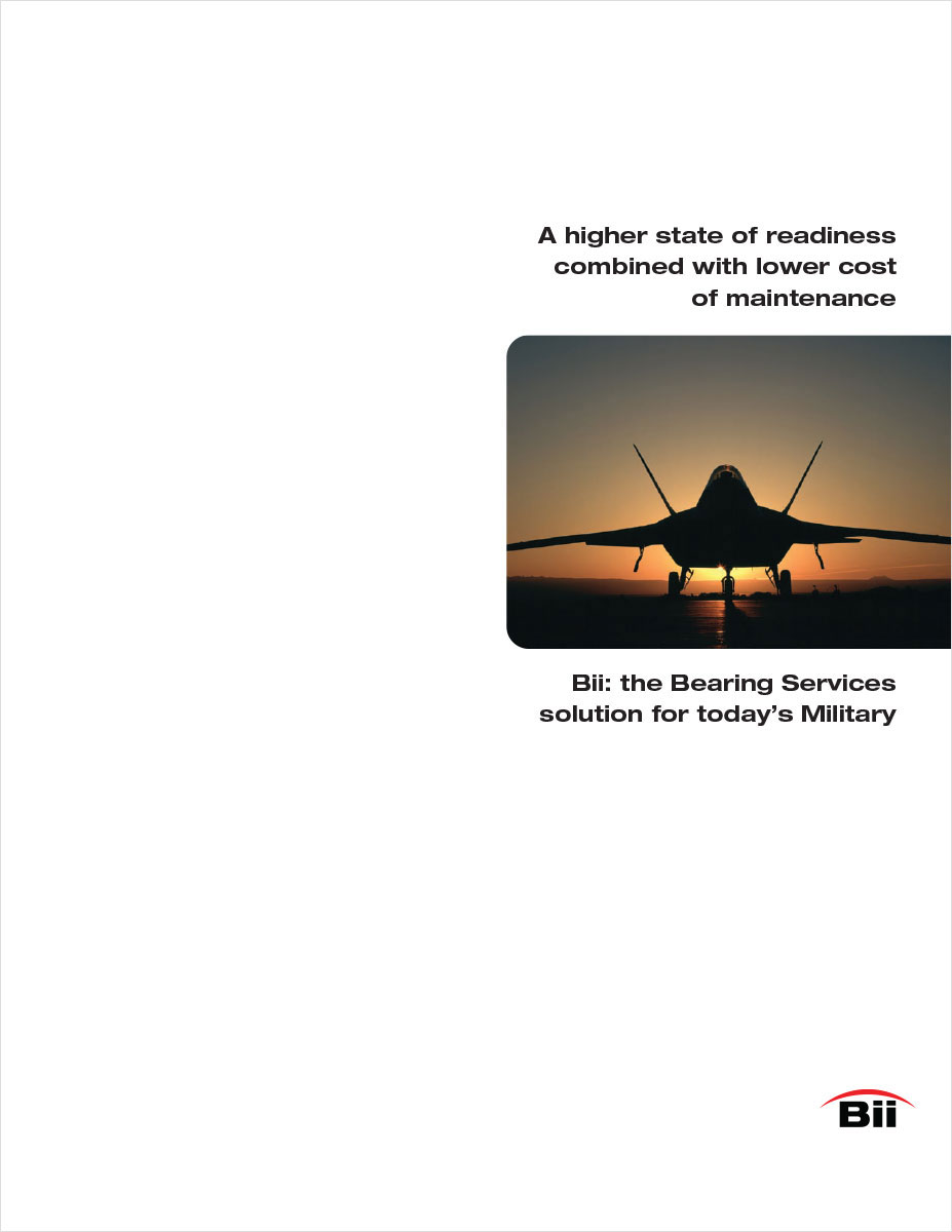 Cover Military Bearing Manufacturer literature