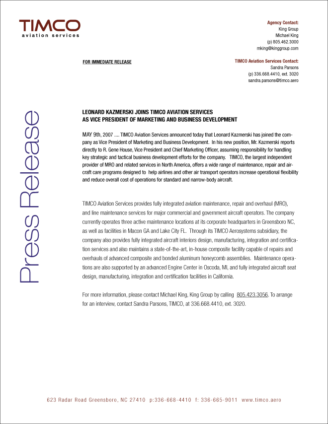 Executive biography king group b2b branding marketing for Ceo press release template