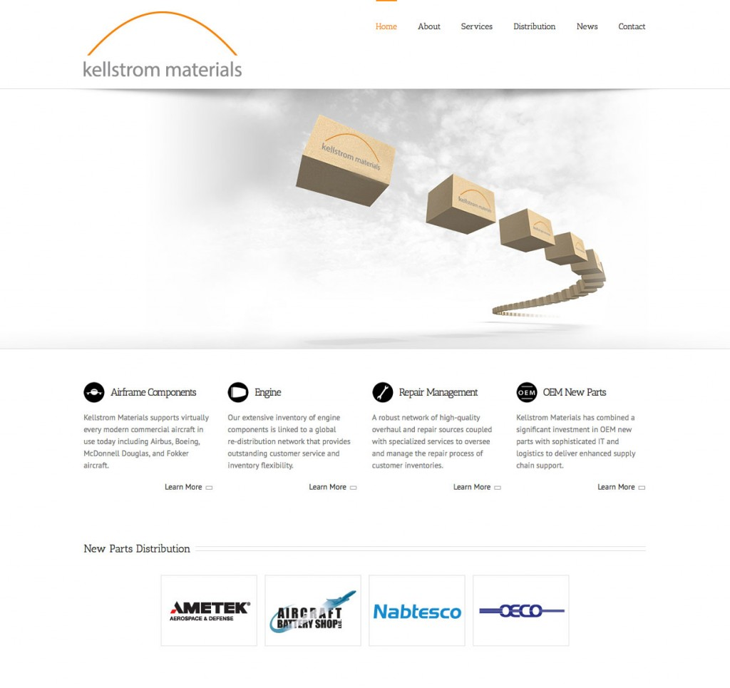Distributor website front page frame